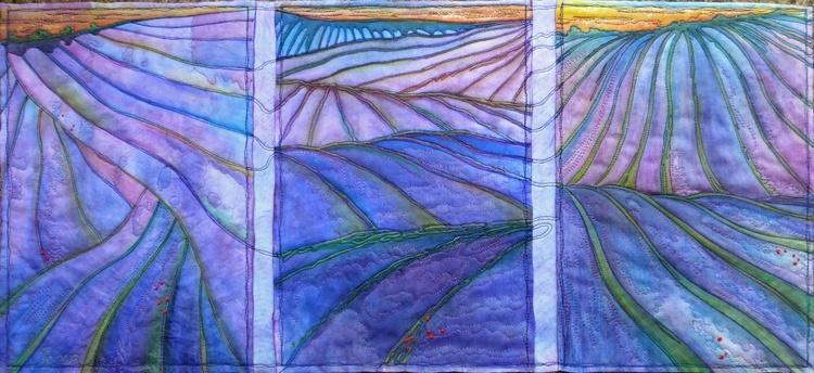Lavender Fields Triptych - Image 0