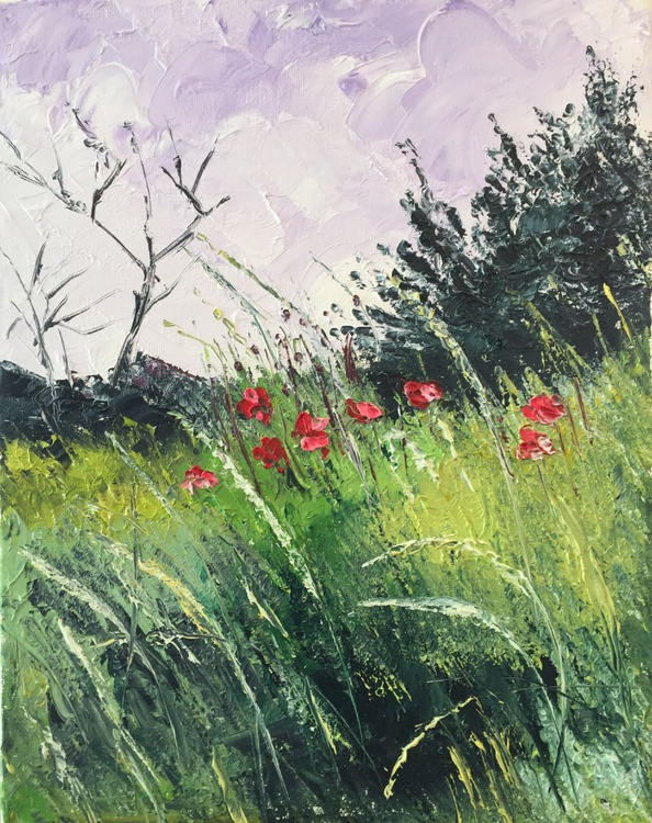 Meadow and poppies - Image 0