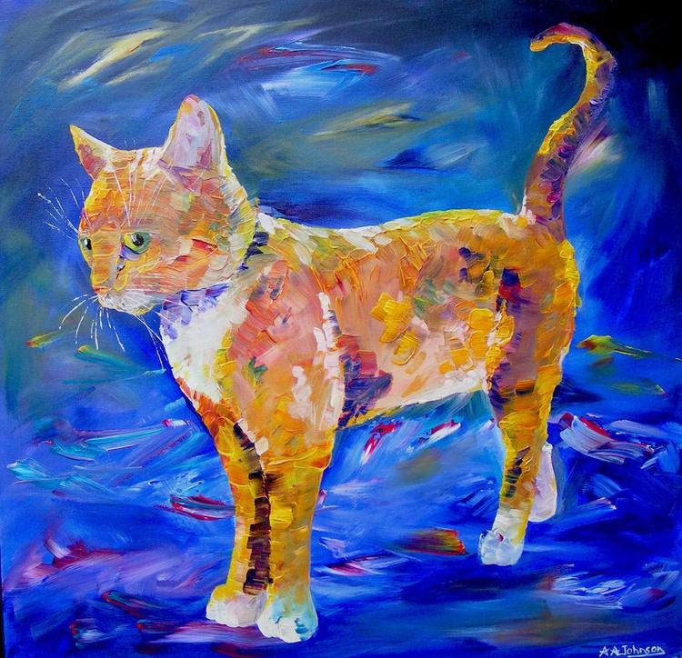 """Cat Painting - """"Curiosity"""" - Image 0"""
