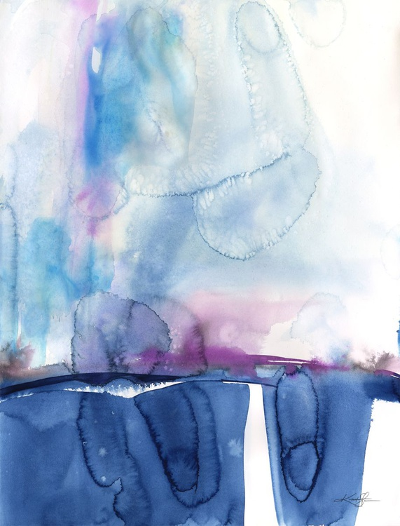 Finding Tranquility 11 - Abstract Zen Watercolor Painting - Image 0