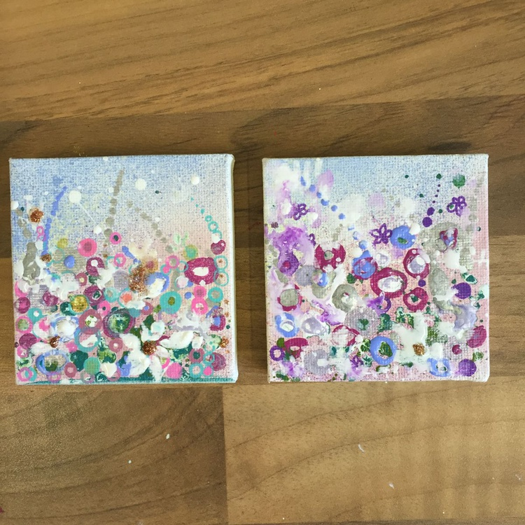 My garden, mini canvas set. - Image 0