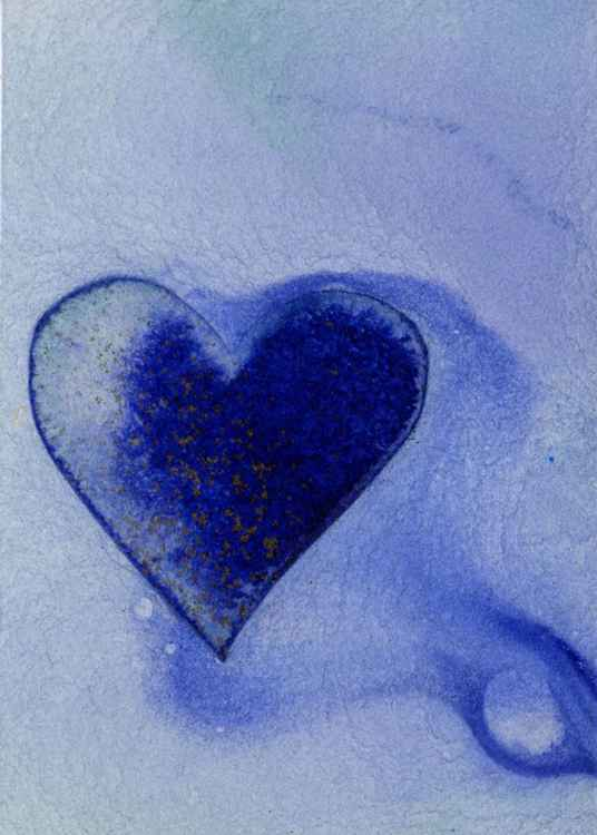 Heart Of Blues - Watercolor Art -