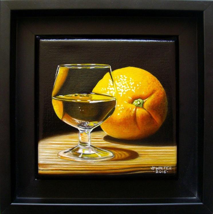 Orange in glass / FREE Shipping - Image 0