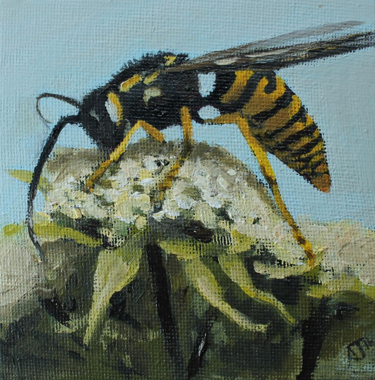 Wasp on a Flower - Image 0