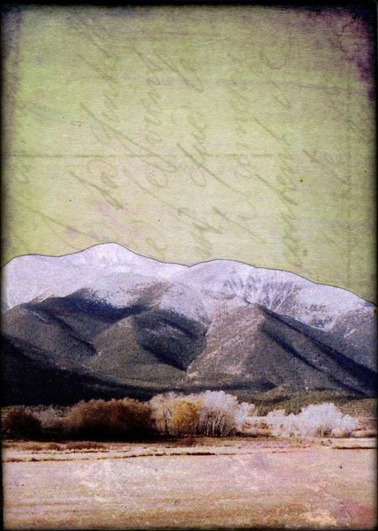 Mountains III, Mixed Media Miniature Art - Image 0
