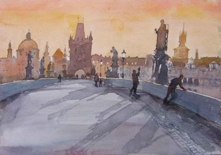 Golden Prague (Charles bridge) -