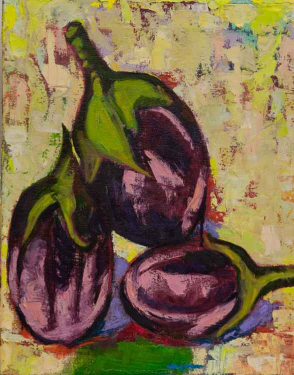 3 Small Eggplants -