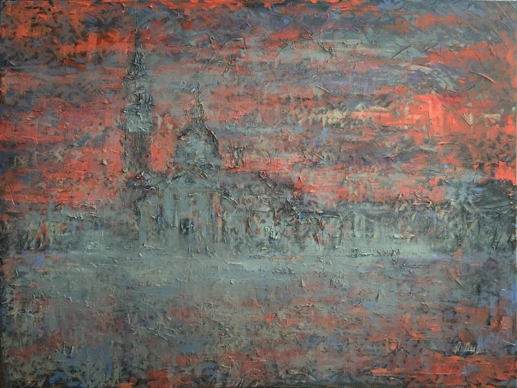 Venice San Giorgio Maggiore sotto La nebbia - Image 0