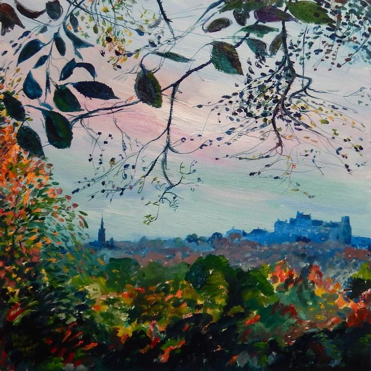 'Edinburgh Skyline' - Oil paint on canvas - 60x60cm - 2015 - Image 0
