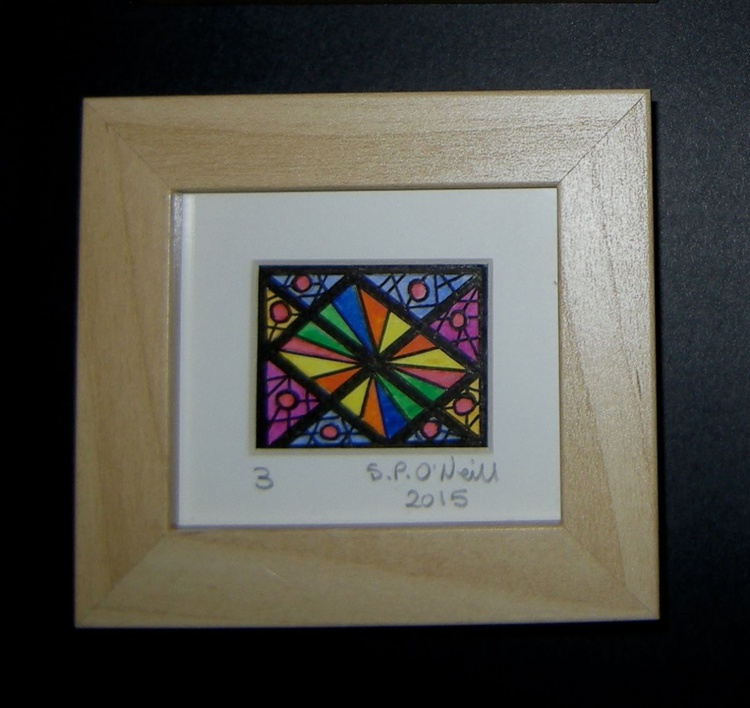 Mini stained glass window 3 - Image 0
