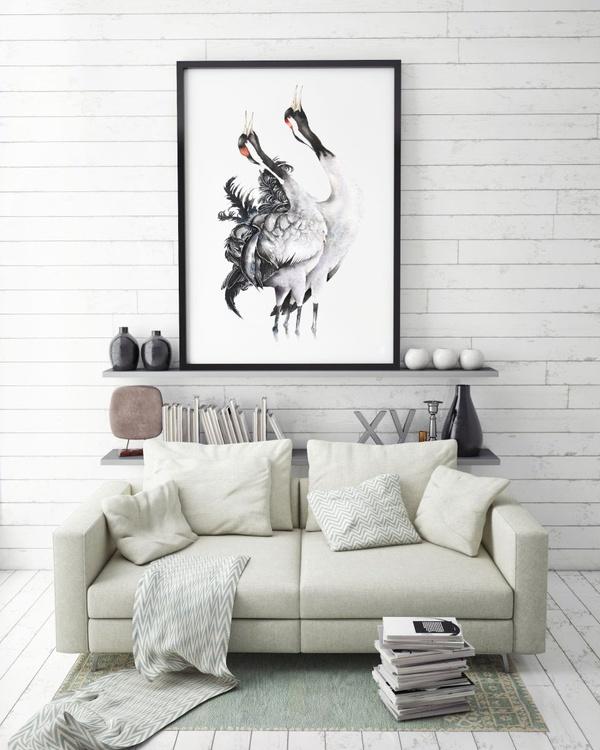COMMON CRANES bird, birds, animals, wildlife watercolour painting - Image 0
