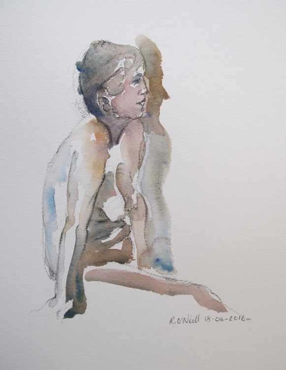 Seated nude - Image 0