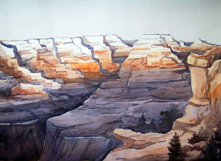 Beauty of Red Canyon - Watercolor Painting -