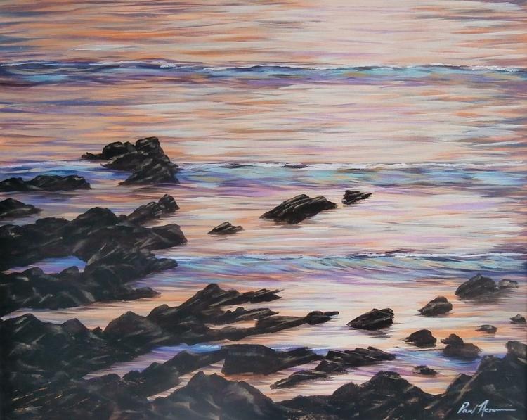 Calm Sunset Waves - Image 0
