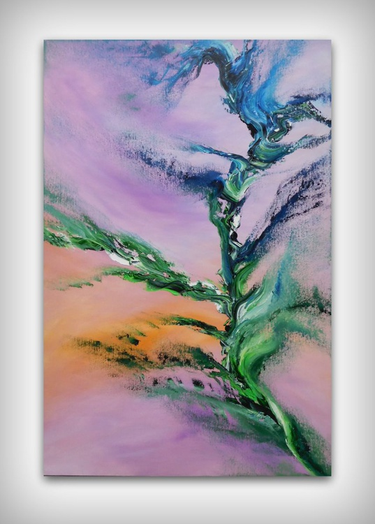 Tree of truth - 60x90 cm, Original abstract painting, oil on canvas - Image 0