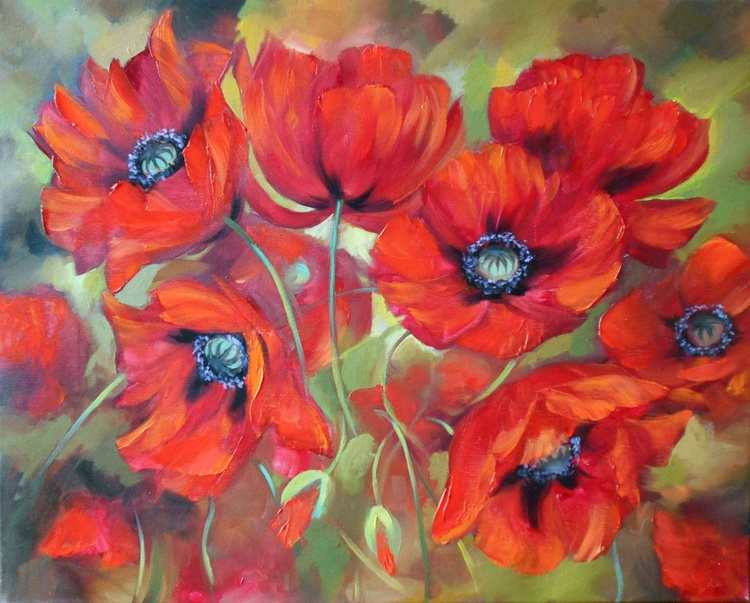 Red poppies - Image 0