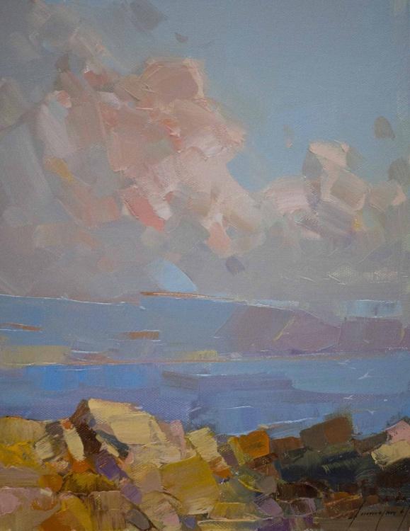 Seascape oil Painting Original Handmade art - Image 0