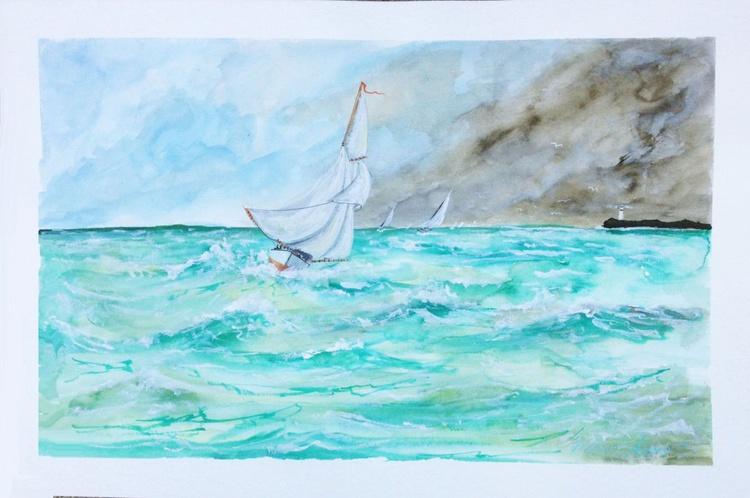 Sailing Stormy Seas - Image 0