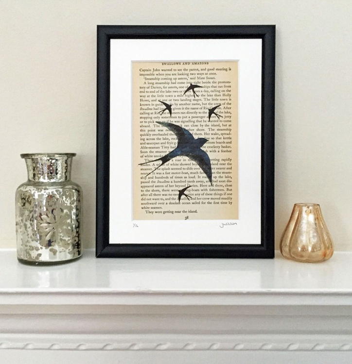 Swallows - Framed - Image 0