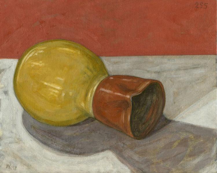 Still life with clay jug - Image 0