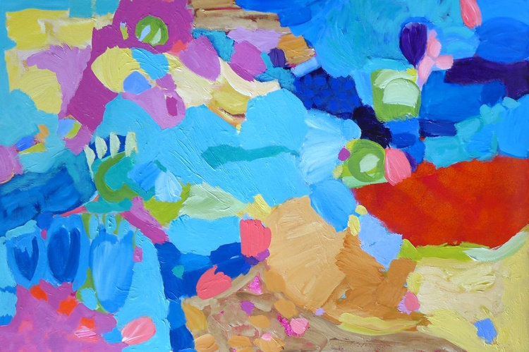"""On A Summer's Day - 40"""" x 26"""" - Image 0"""
