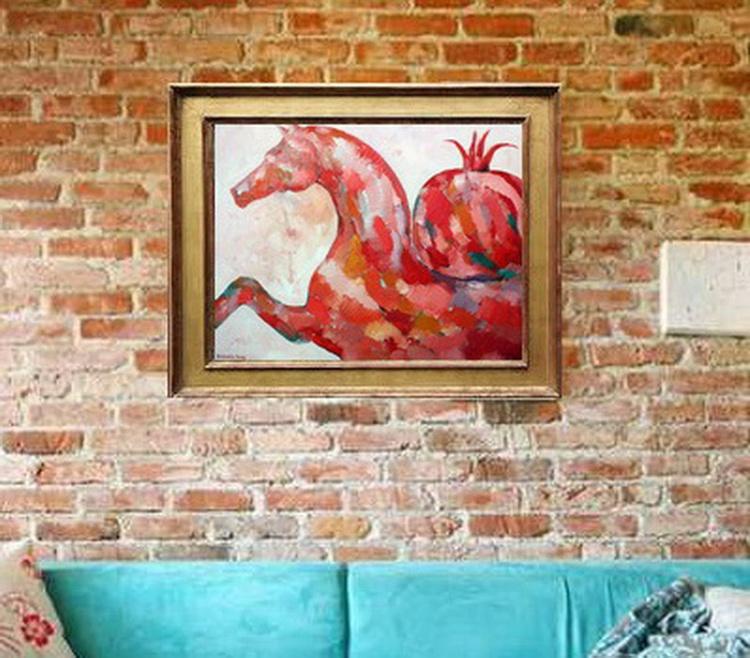 Horse 23,6x31,5', 60x80 cm - Image 0