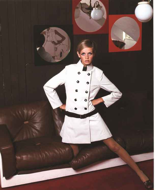 Twiggy in her London flat