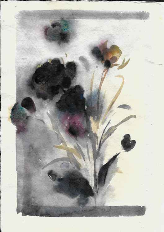Automnal Flowers 2, Liquitex Muted collection