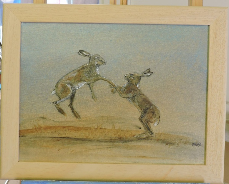 Boxing Hares - Image 0
