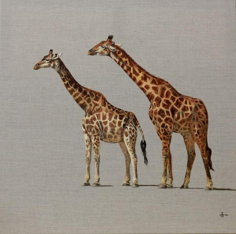 Pair of Giraffe - Image 0