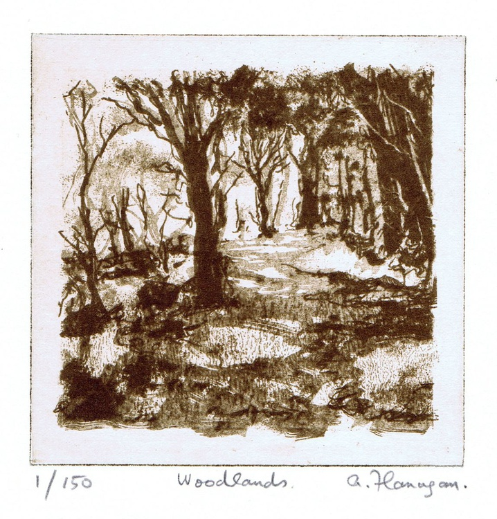 """""""Woodlands"""" - FREE when you purchase selected original prints on my Artfinder Page. - Image 0"""
