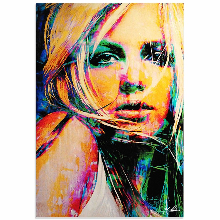 Mark Lewis 'Britney Spears Snow Blind' Limited Edition Pop Art Print on Acrylic - Image 0