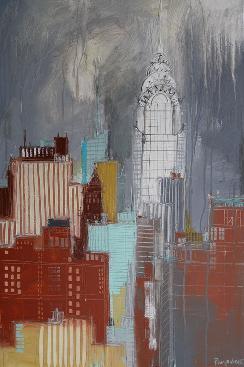 Chrysler Building, New York - 90cm x 60cm, ready to hang - Image 0