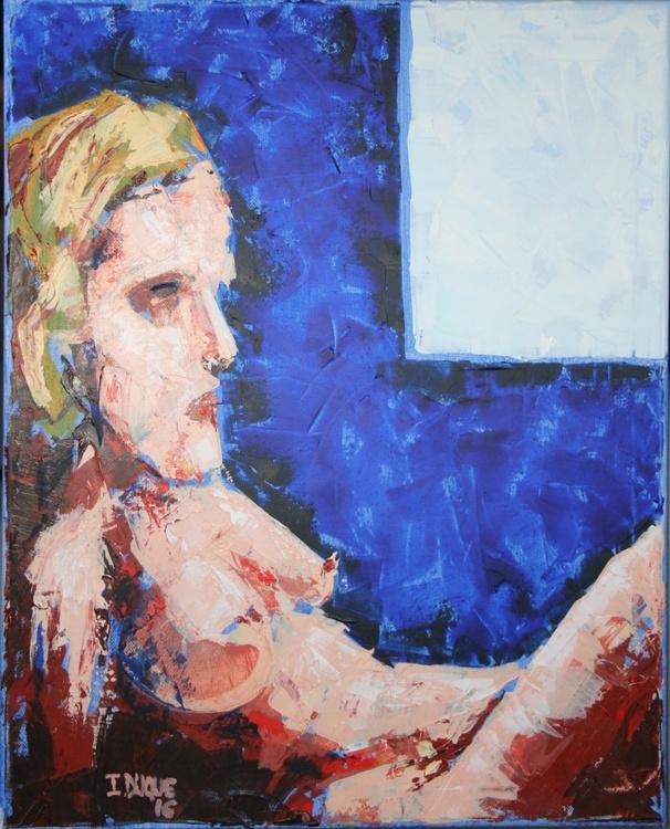Naked on blue - Image 0