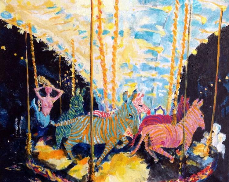 Zebras and Mermaid - Carousel - Image 0