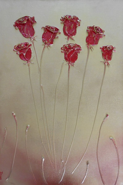 Seven Red Roses - Image 0
