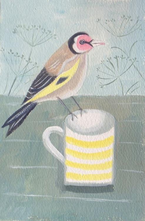 Goldfinch on a mug - Image 0