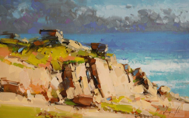 Ocean View Original oil painting on Canvas - Image 0