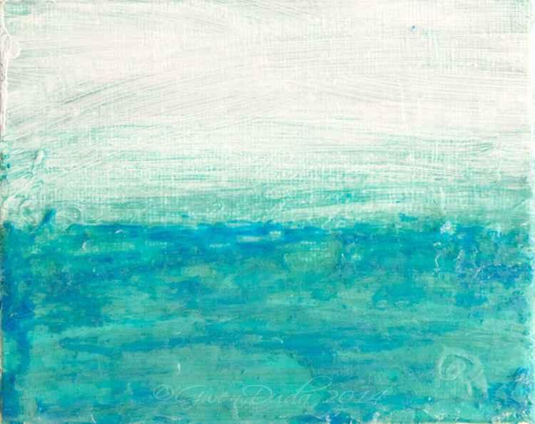 """Duck Blue Horizon"" - Summer Beach Series  -"