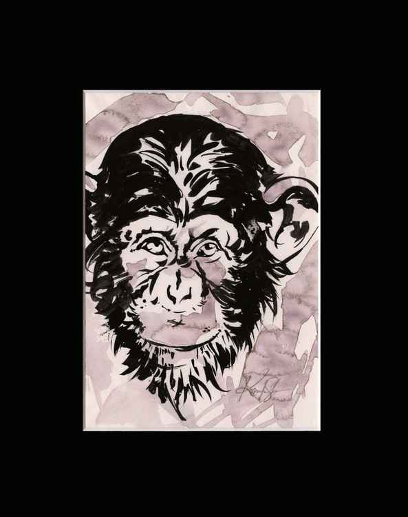 Chimpanzee 1 - Abstract Illustration Painting -