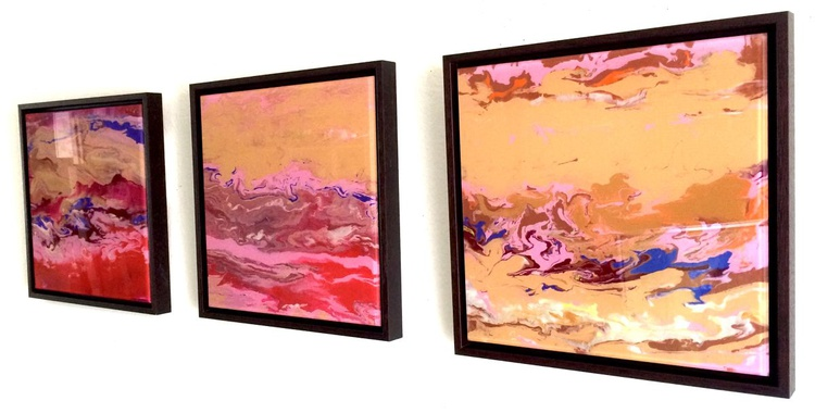 Abstract Painting Contemporary Original art on Plexiglass One of a kind  Framed  Ready to Hang Signed with Certificate of Authenticity - Image 0
