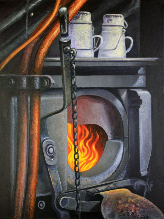 Steam Train Firebox Severn Valley Railway 50th Anniversary - Image 0