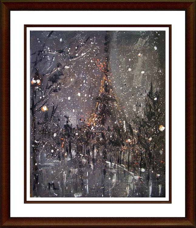 """"""" ONE NIGHT IN PARIS ... """" original oil painting - Image 0"""