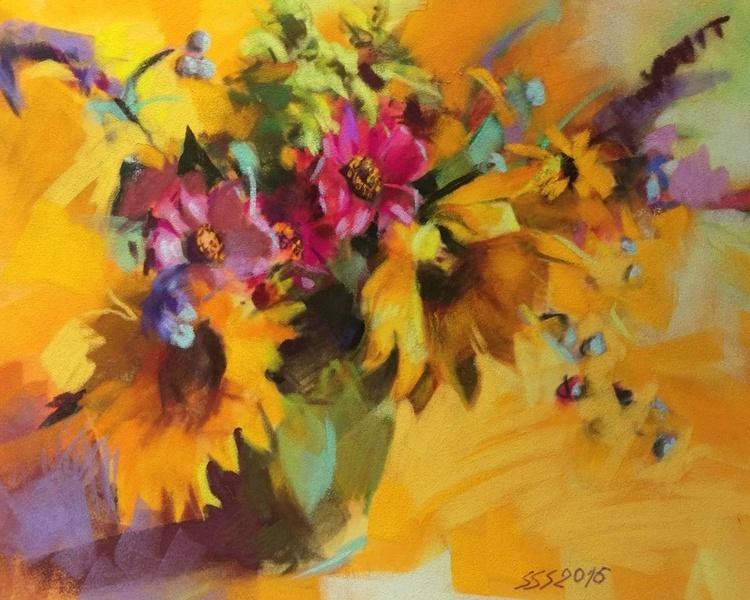 Summer flowers on yellow II - Image 0