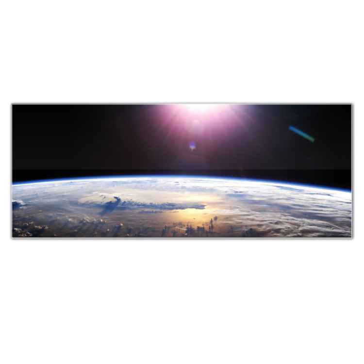 Good Morning Earth | Acrylic Landscape Art, Giclée on Metal -