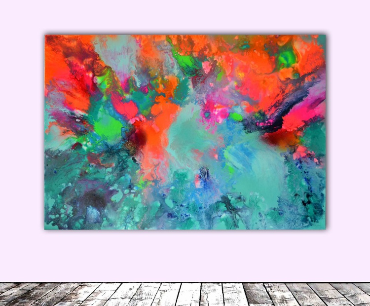Pure Harmony - Abstract Painting, Modern Fauve Neogestural - Ready to Hang - Image 0
