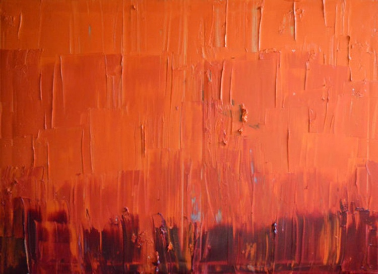 """Original Large Abstract Modern Art Oil Painting Palette knife - 30'x40"""" Michel Campeau - Image 0"""