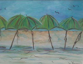 Day At The Beach by Jennifer Viaene