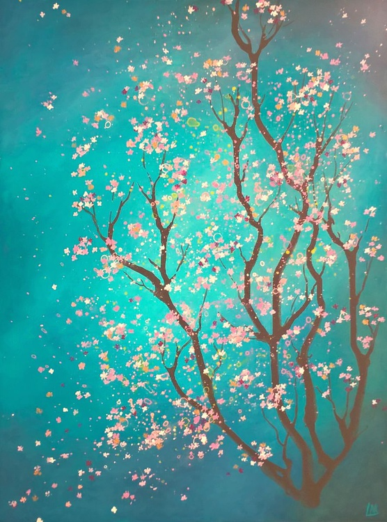 pink and gold blossom - Image 0