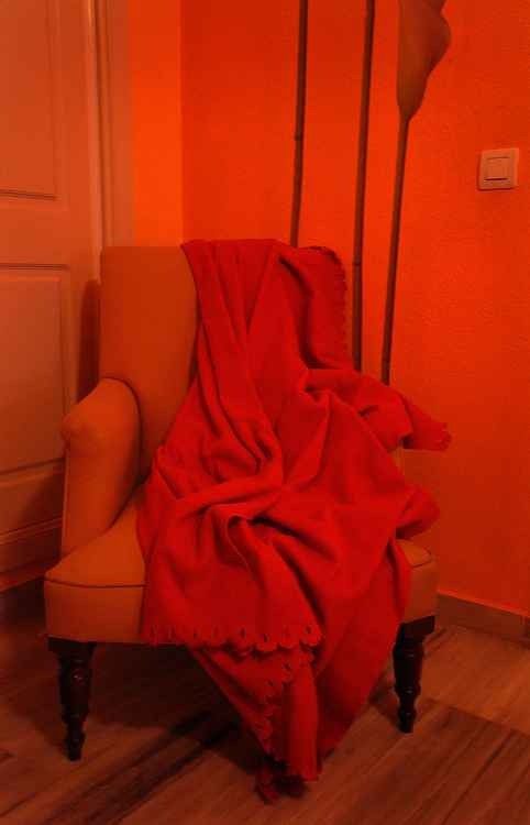 Orange Room, Yellow Chair and Red Plaid  (Ltd Edition of only 20 Fine Art Giclee Prints from an original photograph)